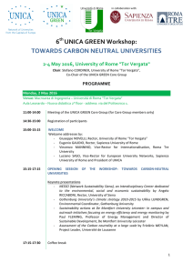 6 UNICA GREEN Workshop: TOWARDS CARBON NEUTRAL