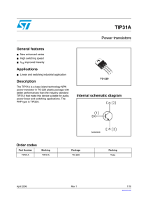 TIP31A Datasheet - STMicroelectronics
