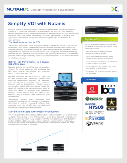 Simplify VDI with Nutanix