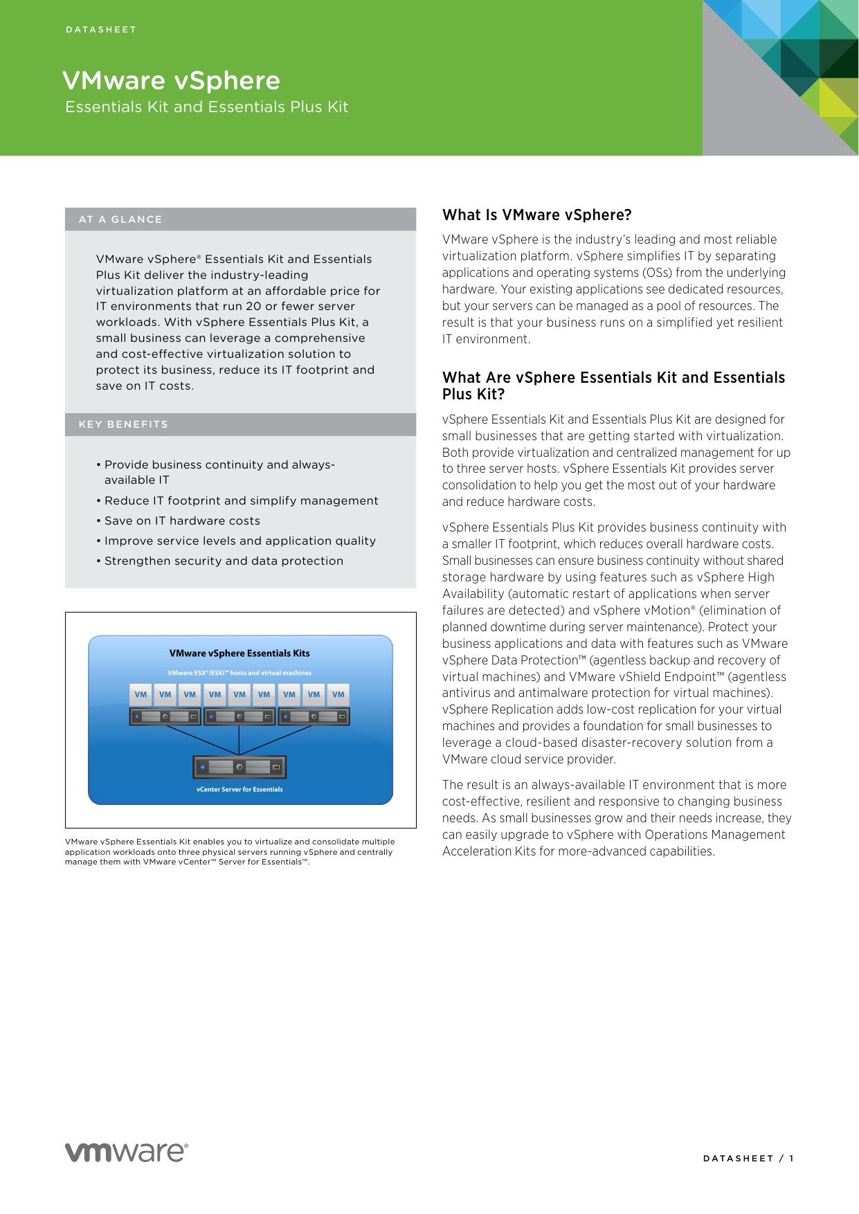 Essentials Kits Datasheet