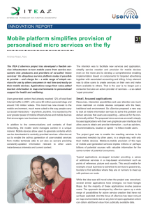 Mobile platform simplifies provision of personalised micro services
