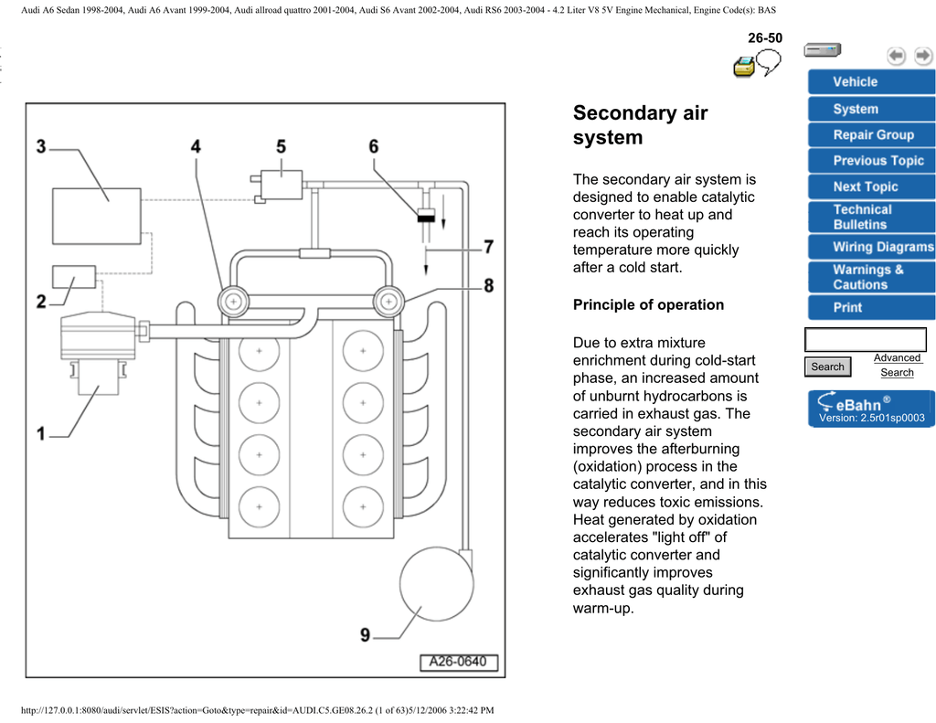 2001 Audi A6 Engine Diagram