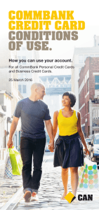 commbank credit card conditions of use.