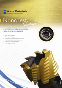 Now - Nanotesting by Micro Materials