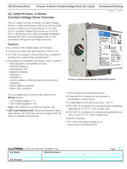 hi lume 0 1% constant voltage led driver l3d0 spec lutron la series 24v 40 watt dimming driver