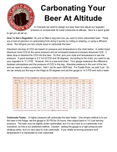 Carbonating Your Beer At Altitude