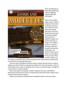 Atoms and Molecules by Molly Aloian