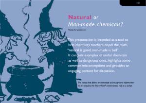 Natural or Man-made chemicals?