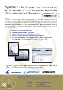 Flightdocs – Transforming costly, time-consuming aircraft