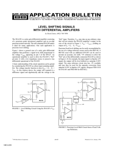 level shifting signals with differential amplifiers