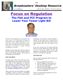 The FAA and FCC Program to Lower Your Tower Light Bill
