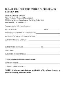 PLEASE FILL OUT THIS ENTIRE PACKAGE AND RETURN TO: