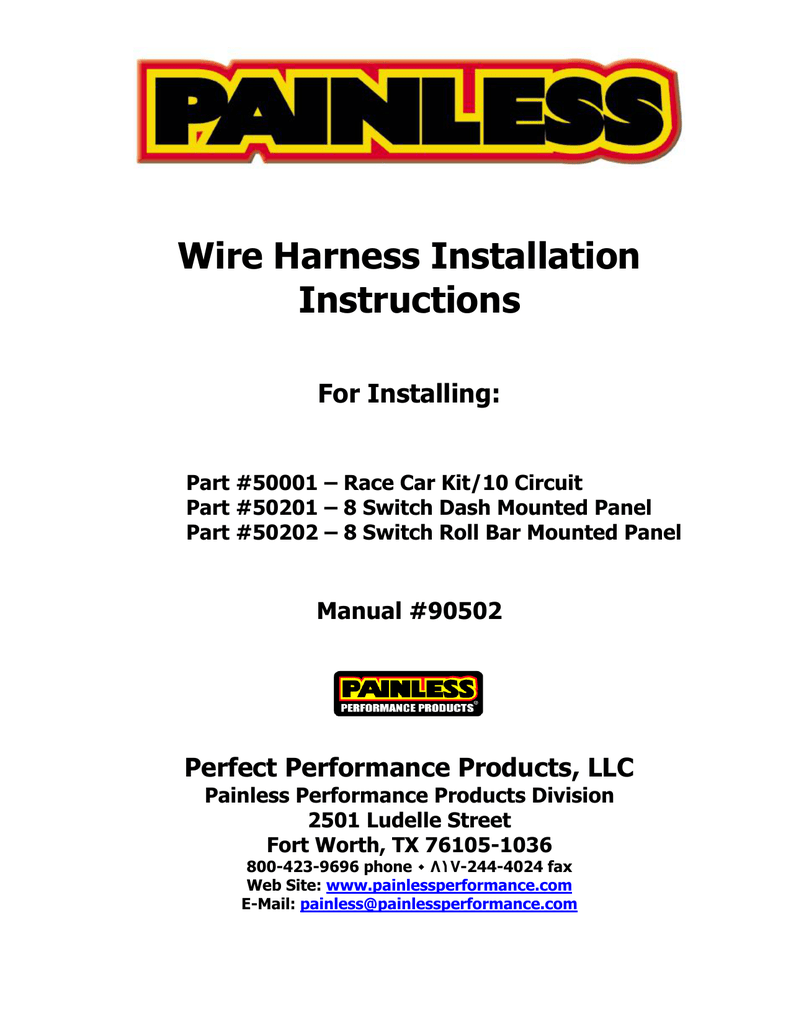 Wire Harness Installation Instructions Painless Wiring Car 018117188 1 2a2b0d8eb41b4ab81e4d2629ed11a987