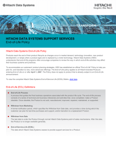 Hitachi Data Systems End-of