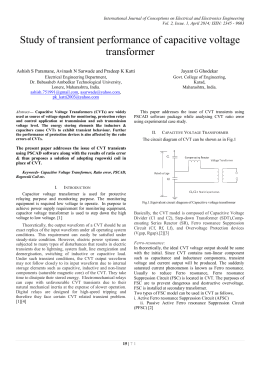 Study of transient performance of capacitive voltage transformer