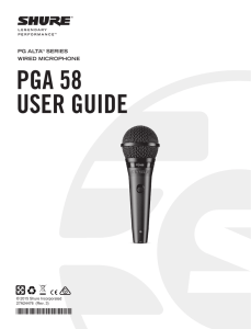 PGA58 Wired Microphone User Guide - English