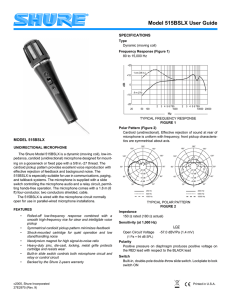 Shure 515BSLX Microphone User Guide