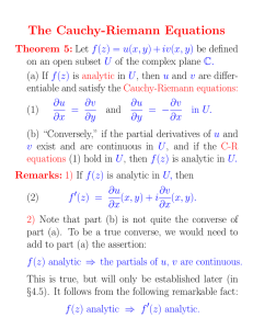 The Cauchy-Riemann Equations (3 pages)