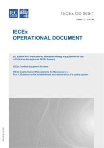 IECEx OPERATIONAL DOCUMENT
