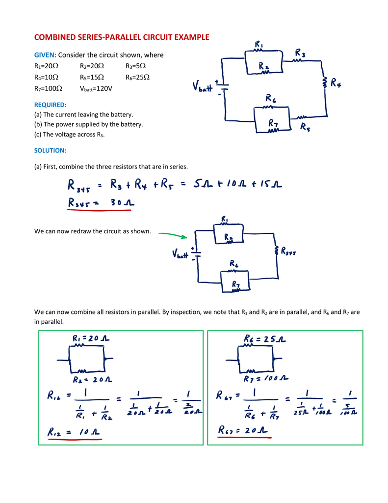 Series And Parallel Circuits Worksheet Answers ...