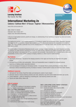 International Marketing 2e - McGraw Hill Higher Education