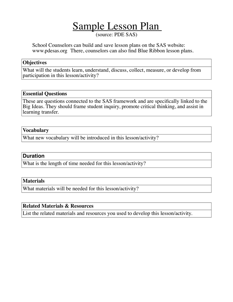 Ceedabfeafpng - School counselor lesson plan template