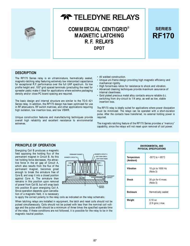 Teledyne Relays Electrical Relay Quiz