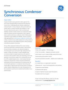 Synchronous Condenser Conversion