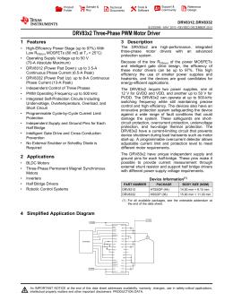 DRV83x2 Three-Phase PWM Motor Driver (Rev