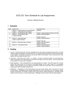ECE 272: Term Schedule for Lab Assignments