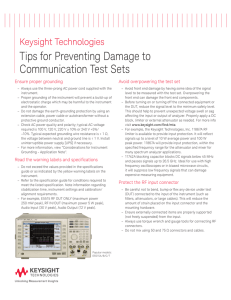 Tips for Preventing Damage to Communication Test Sets