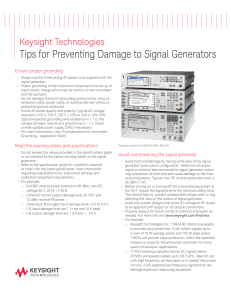 Tips for Preventing Damage to Signal Generators