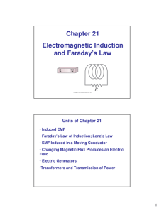 AP Physics Chapter 21: Electromagnetic Induction