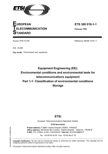 ETS 300 019-1-1 - Equipment Engineering (EE