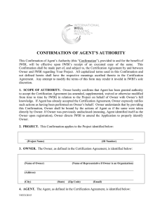 confirmation of agent`s authority - International WELL Building Institute