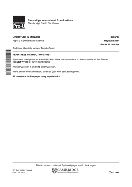 June 2014 Question Paper 3 - Cambridge International Examinations