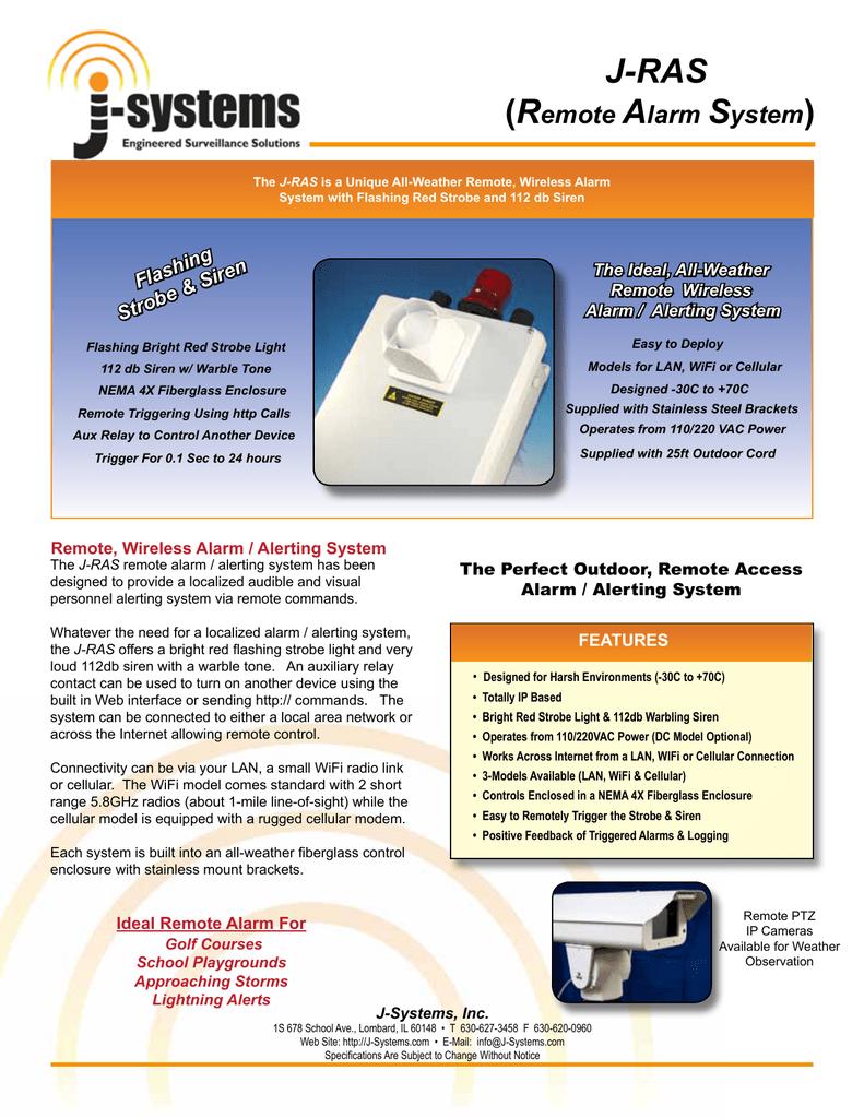 Remote Alarm System - J