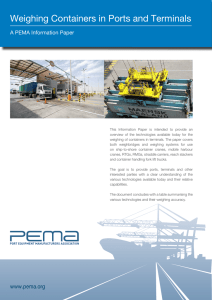 Weighing Containers in Ports and Terminals