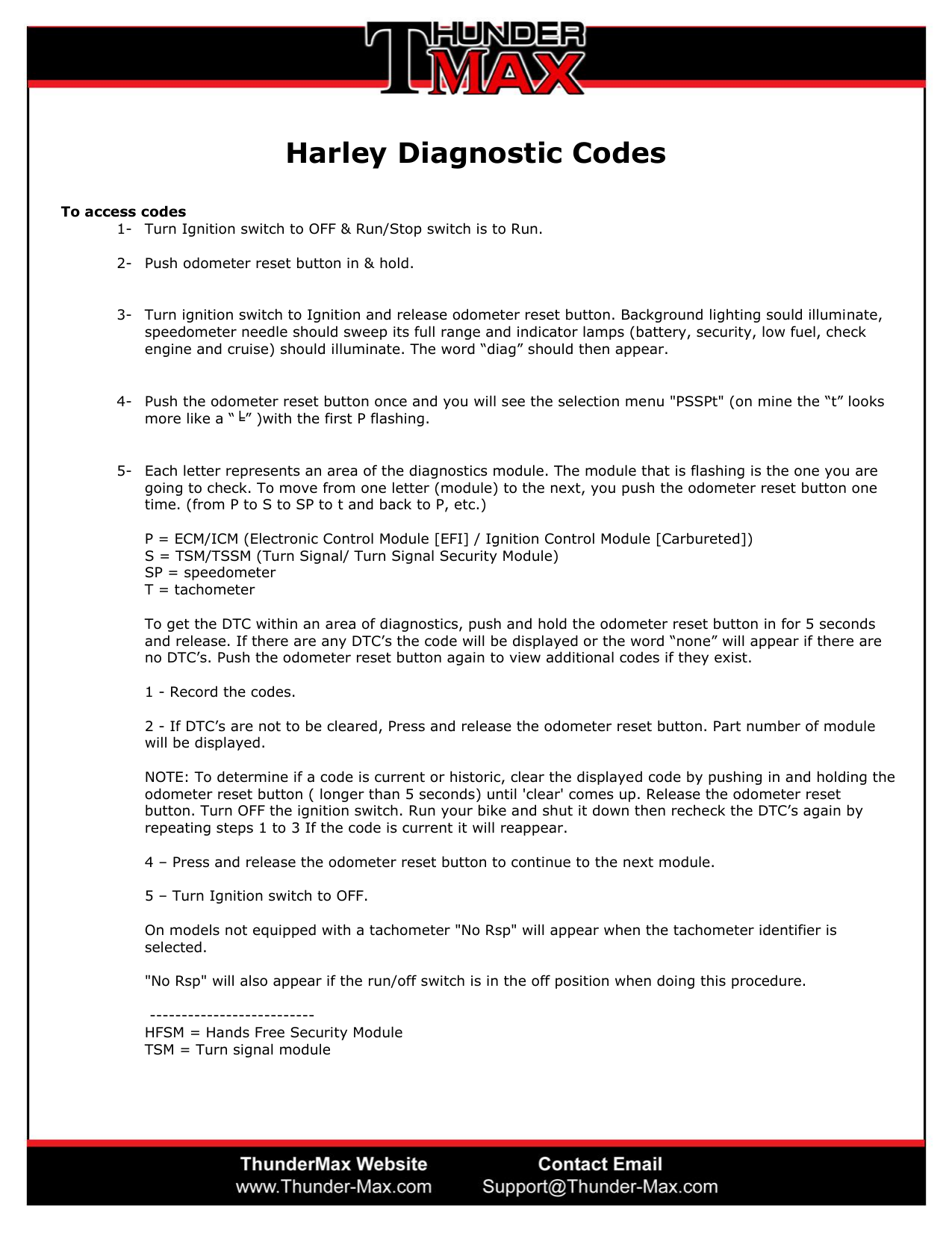 Harley Diagnostic Codes and How To Access Them