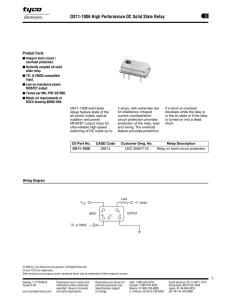 DS11-1006 Solid State Relay Data Sheet - CII
