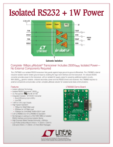 Isolated RS232 + 1W Power