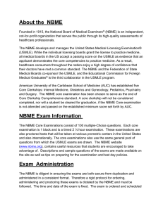 NBME Subject (Shelf) Exam Questions and Answers 9/16/13 1  How