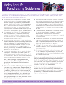 Relay For Life Fundraising Guidelines