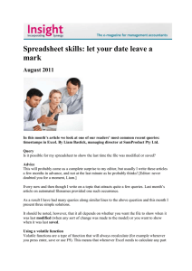 Spreadsheet skills: let your date leave a mark