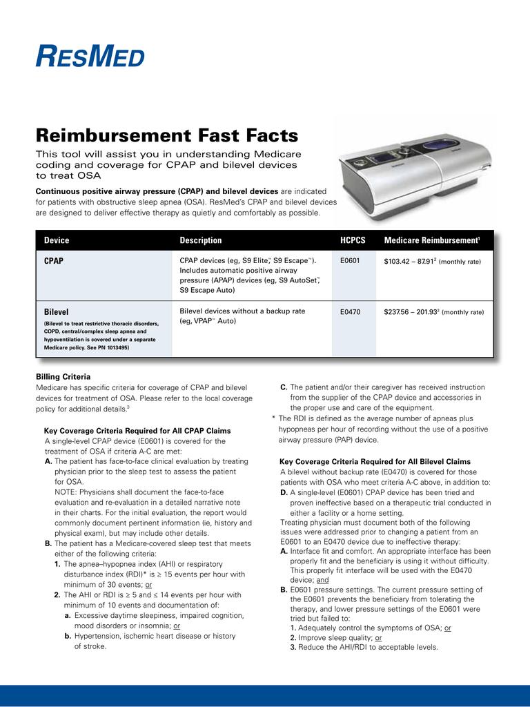 Reimbursement Fast Facts