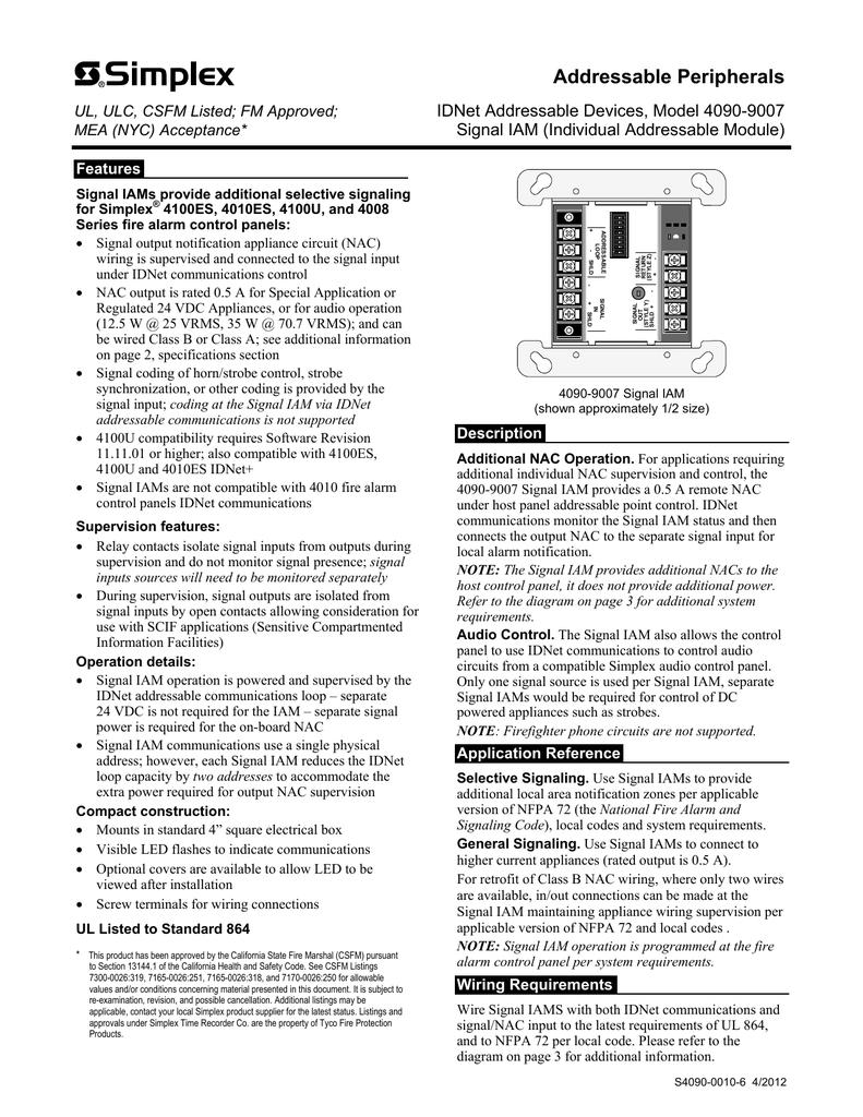 Simplex Control Module Wiring Diagram