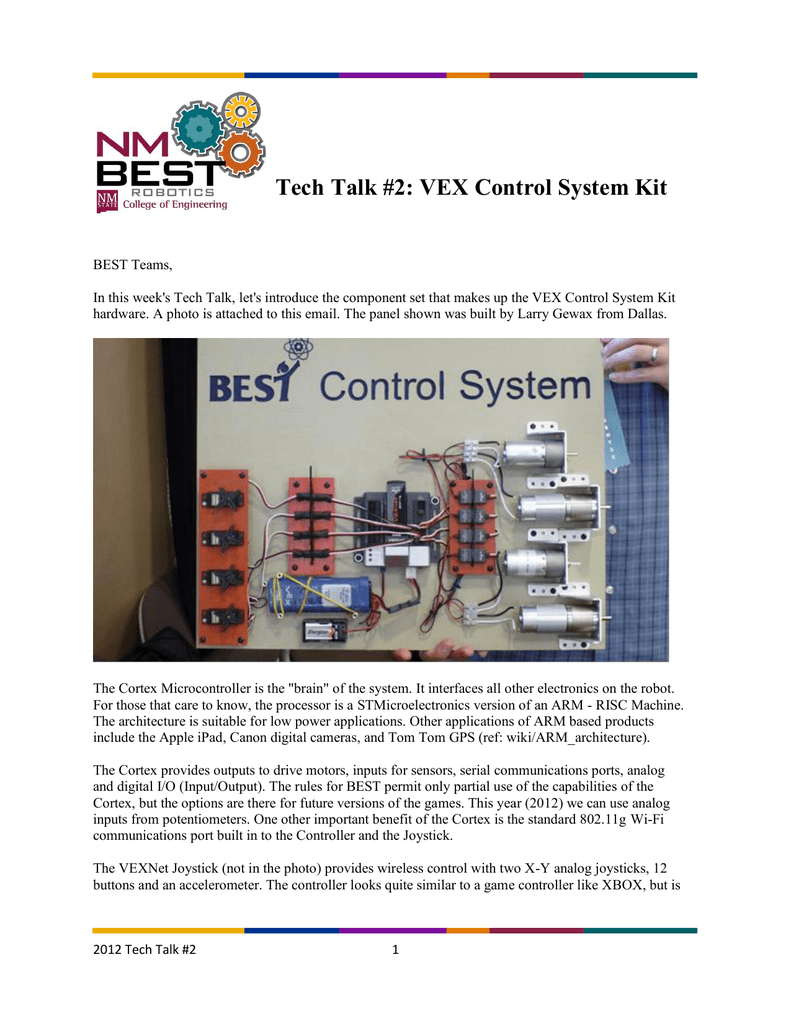 Tech Talk #2: VEX Control System Kit