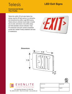 Telesis LED Exit Signs