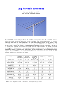 V/UHF Log-Periodic Antennas