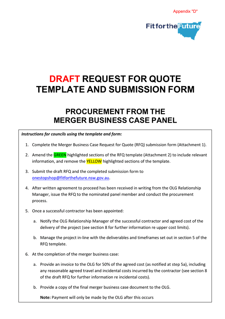 Draft request for quote template and submission form pronofoot35fo Gallery